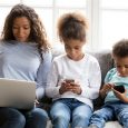 kids on devices